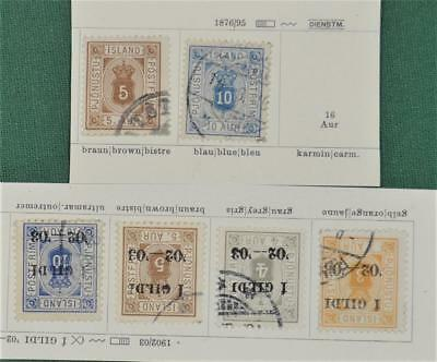 Iceland 6 Early Stamps    (S3)