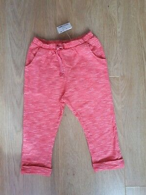 BNWT Next Baby Girls Pink Jersey Trousers 9-12 Months