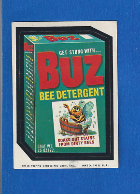 1975 Topps Original Wacky Packages 12th Series Buz Detergent  tan back