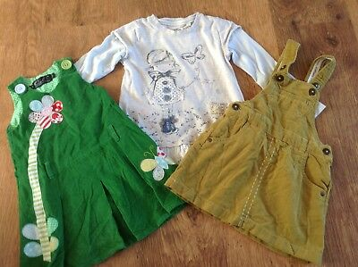 Next Oobi Girls Small Bundle / Outfits 18-24Mths Pinafores Top