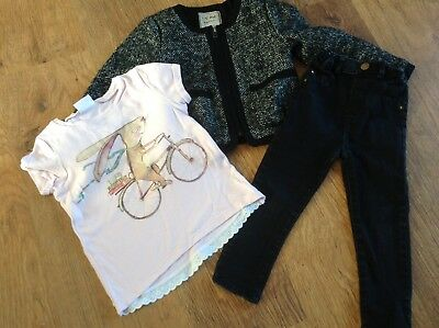 River Island Next Girls Small Bundle / Outfit 3-4Yrs Top Jacket Jeans