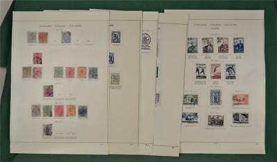 Finland Stamps Good Selection On 11 Pages From 1875   (S62)