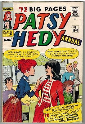 Patsy And Hedy Annual #1 1963 Giant 76 Pages Marvel Silver Age First Issue!