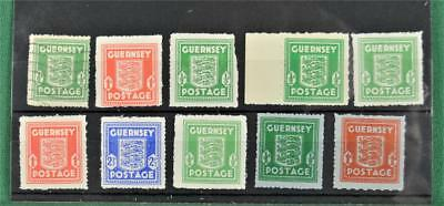 Gb 10 Guernsey Channel Island Occupation Stamps 9 U/m 1 Used  (S131)