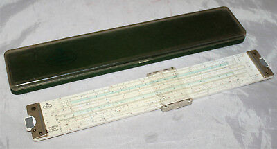 Faber Castell 2/83 N Novo Duplex Slide Rule in Case