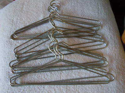 "15 heavy duty thick steel coat hangers, 16.5"" 42 cm, clean condition"