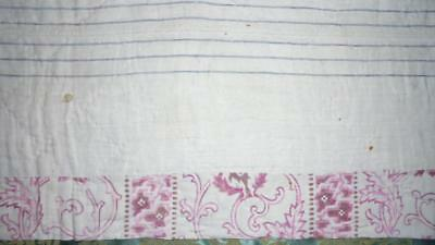 NEW AUTUMN STOCK  EARLY 19th CENTURY FRENCH QUILTED PROVENCAL COTTON c1840  283