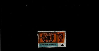 GB 1965 3d UNITED NATIONS Stamp with 'Lale in Russia' VERIETY SG681B  Ref:A123