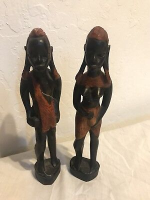 2 Vintage African Statues