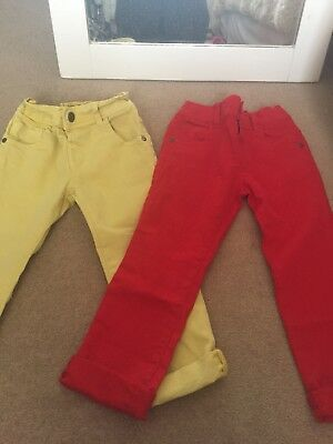 Next Boys Trousers 2-3 Years Yellow Red
