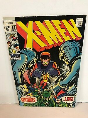* Marvel Comics X-Men Issue 57 Neal Adams The Sentinels Live