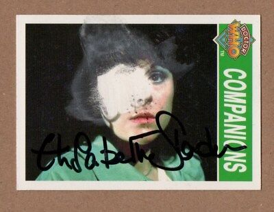 Dr Who Signed Cornerstone Card 186 By Elizabeth Sladen [Damaged]