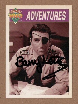 Dr Who Signed Cornerstone Card 246 By Barry Letts