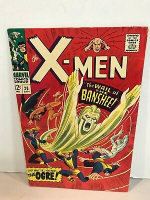 * Marvel Comics X-Men Issue 28 1st Appearance Of The Banshee