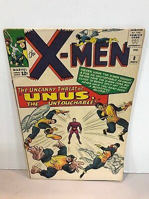 * Marvel Comics X-Men Issue 8 1st Appearance Of Unus