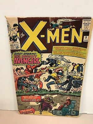 * Marvel Comics X-Men Issue 9 1st Appearance Of Lucifer And Avengers Cross Over