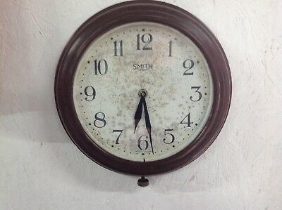 Classic Vintage Smiths Bakelite School Office Factory Clock - Battery Movement!!
