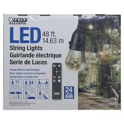 Feit Electric 48ft LED String Lights Color Changing w/ Remote Indoor/Outdoor NEW