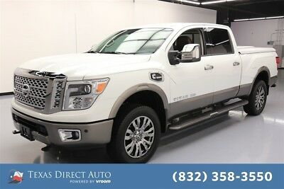 2016 Nissan Titan Platinum Reserve Texas Direct Auto 2016 Platinum Reserve Used Turbo 5L V8 32V Automatic RWD