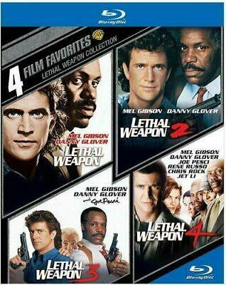 Lethal Weapon 1 2 3 4 Collection 4 Film Favorites (Blu-ray, 4-Disc Set) NEW