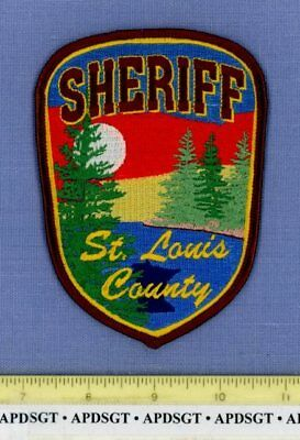 ST LOUIS COUNTY SHERIFF MINNESOTA Police Patch LAKE TREES