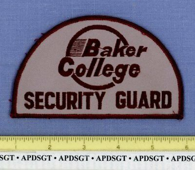 BAKER COLLEGE SECURITY GUARD FLINT MICHIGAN Sheriff School Campus Police Patch