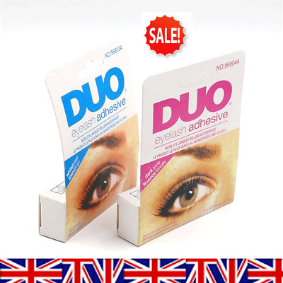 98040528824 DUO False Fake Eyelash Extension Glue Adhesive 7g - Clear or Dark - UK
