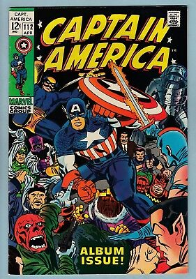 Captain America # 112 Fn (6.0) Silver Age Recovery Retold - Kirby- Glossy- Cents
