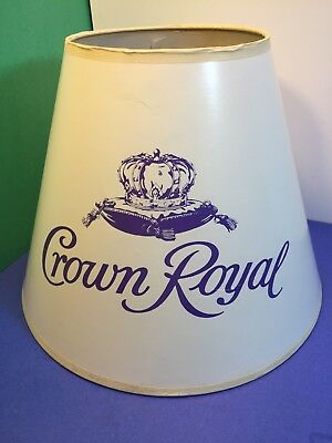 Crown Royal Whiskey Lamp Shade ~ Bar Lamp ~ Vintage? only one on ebay