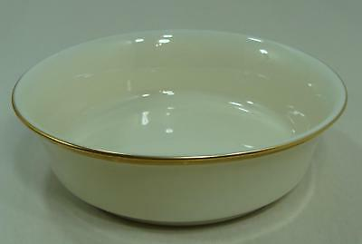 """Lenox Eternal 5 3/8"""" Fruit Dessert Berry Bowl Ivory With Gold Trim Made in USA"""