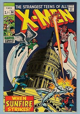 X-MEN # 64 VFN- (7.5) 1st SUNFIRE APPEARANCE- NEIL ADAMS ART - NICE HIGHER GRADE