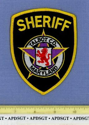 TALBOT COUNTY SHERIFF MARYLAND Police Patch ROYAL LION