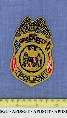 GREENBELT EVIDENCE CSI MARYLAND Police Patch FORENSIC CRIME SCENE MYLAR 3.75""