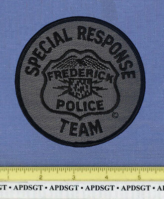 FREDERICK ~ SWAT ~ MARYLAND Sheriff Police Patch SUBDUED SRT SPECIAL RESPONSE