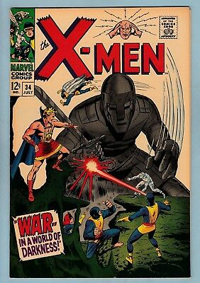 X-Men # 34 Vfn+ (8.5) Savannah Pedigree Collection Copy- High Grade- 1967- Cents