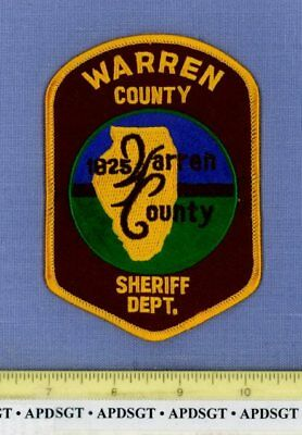WARREN COUNTY SHERIFF ILLINOIS Sheriff Police Patch STATE SHAPE OUTLINE