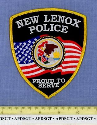 NEW LENOX ILLINOIS Sheriff Police Patch US FLAG STATE SEAL