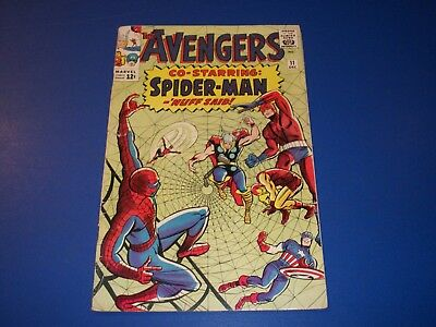 Avengers #11 Silver Age Spider-man Crossover Solid  Wow