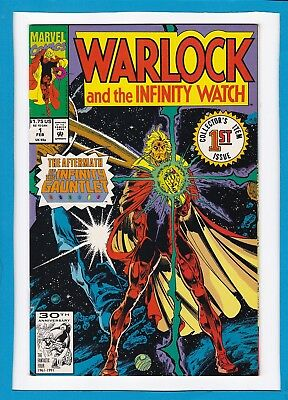 Warlock And The Infinity Watch #1_Feb 1992_Very Fine+_Thanos_Jim Starlin!