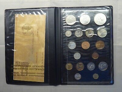 ISRAEL 1949 - 18 Coin Set with 500 250 PRUTA SILVER VERY RARE/ Receipt