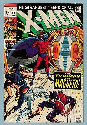 X-Men # 63 Vfn (8.0)  Neil Adams Art & Cover- Glossy High Grade- Pence Variant