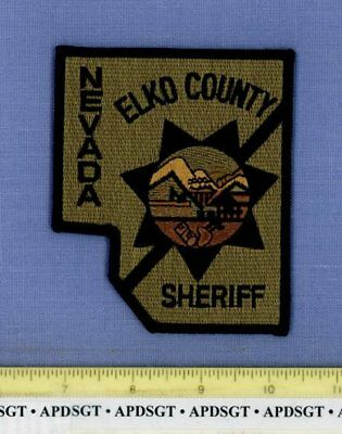 ELKO  COUNTY SHERIFF ~ SWAT ~ NEVADA Police Patch SUBDUED COUNTY SHAPE