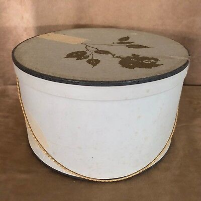 Vintage Lord & Taylor Hat Box Gold Rose Old