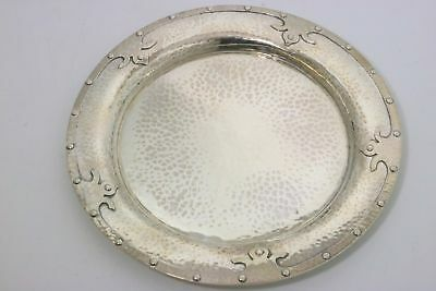 Arts & Crafts Hammered Sterling Silver Plate by Thomas G. Brown & Son 1881-1915
