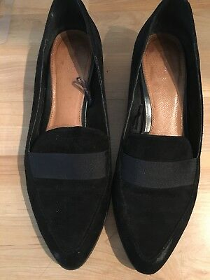 Next black suede loafer style shoes,  size 37 (Eu) 4(uk)