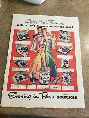 1939 Vintage Evening in Paris Ad  Bourjois