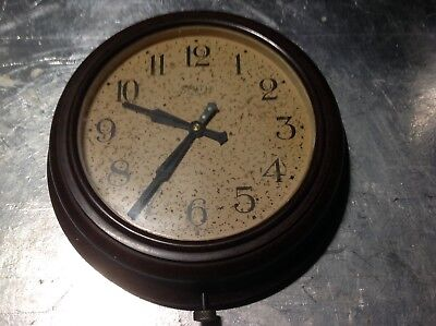 Beautiful Vintage Smiths Bakelite School Office Factory Clock - For Renovation