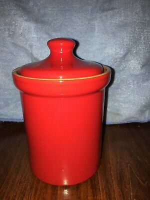 Red Canister Made In Italy