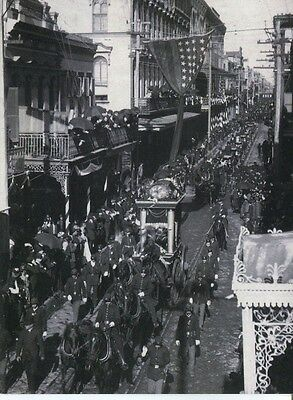 Postcard Of Confederate President Jefferson Davis's Funeral In New Orleans 1908