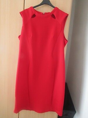MARKS AND SPENCER  - red stretch bodycon midi evening/party dress size 22 BNWT